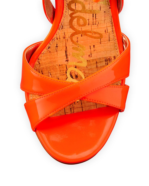 6f92651ebfea Lyst - Sam Edelman Azela Strappy Patent Tassel Sandal in Orange