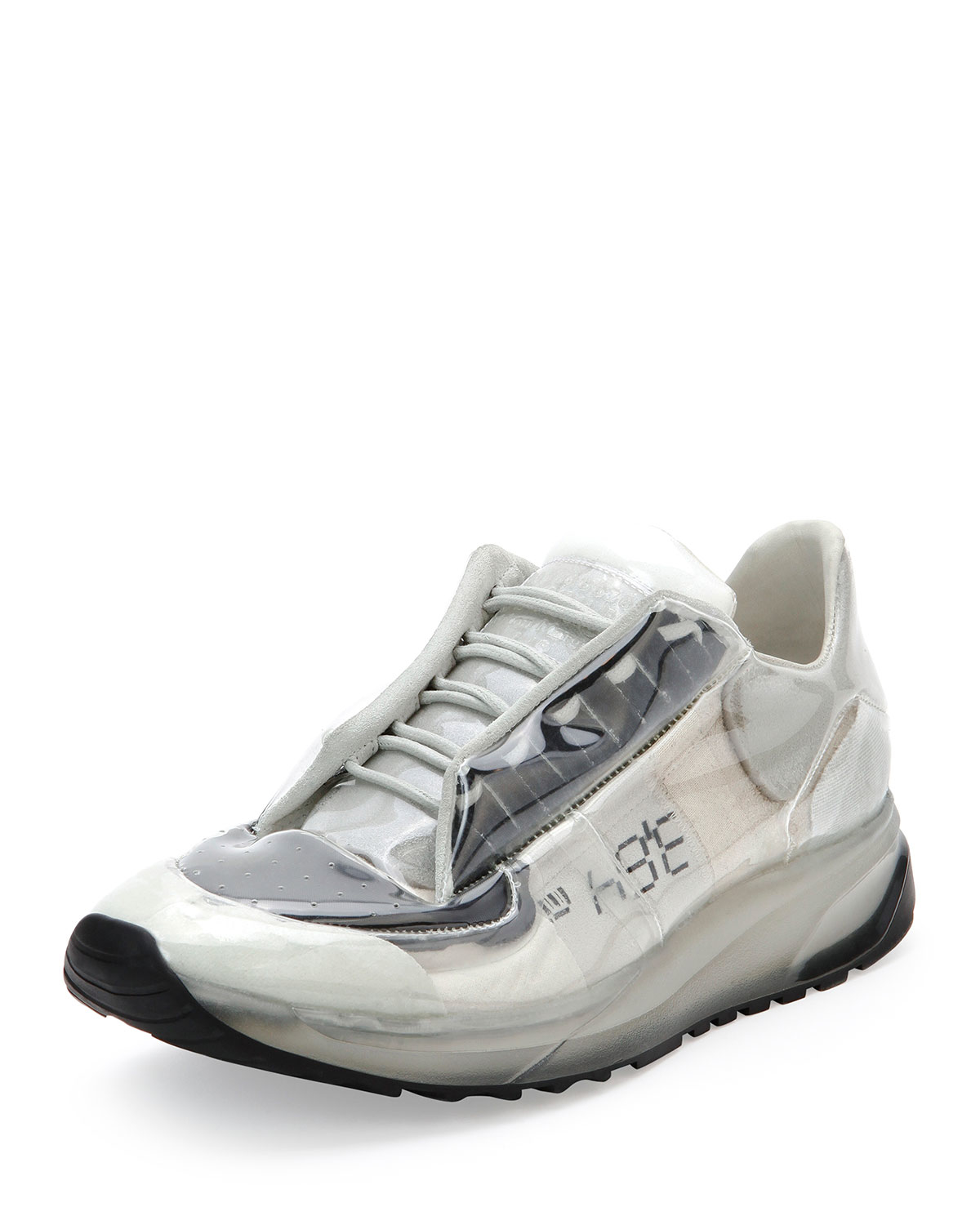 Maison margiela Transparent Lace-up Trainer Sneaker in ...
