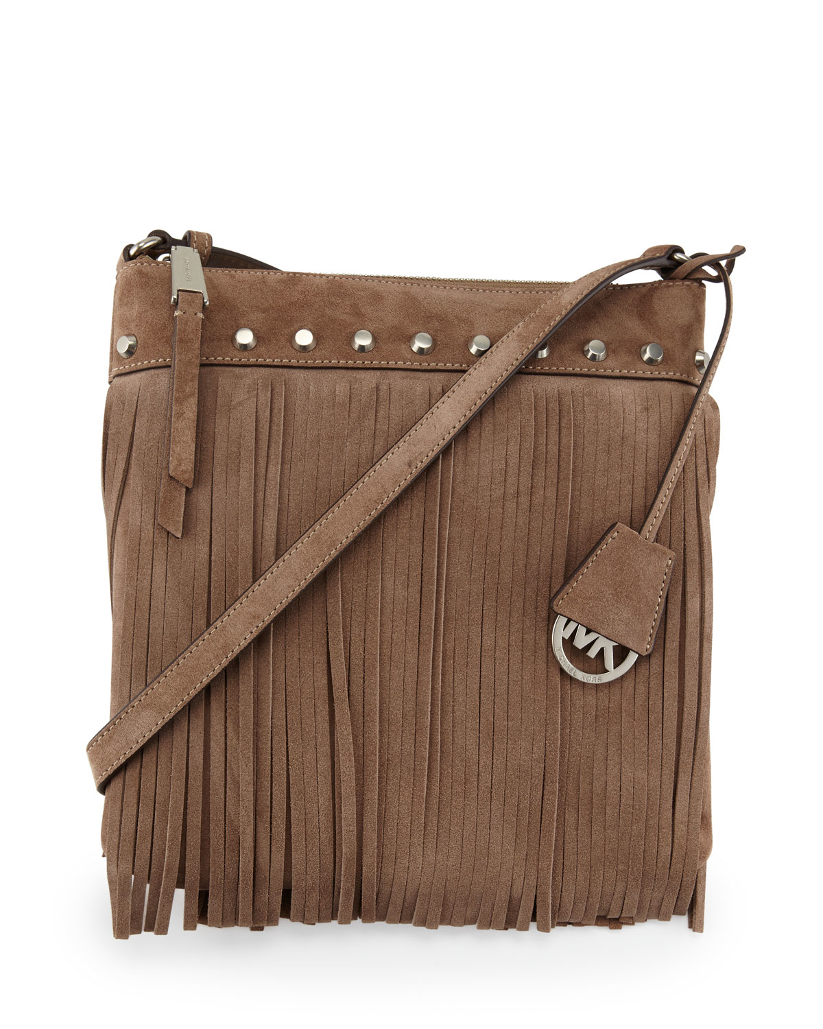 7860eb11ce60 ... switzerland lyst michael michael kors billy small fringe suede  messenger bag a43c6 cd703