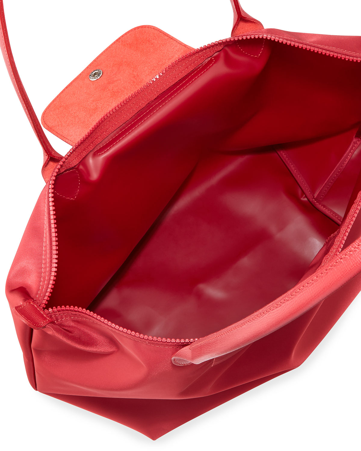 Lyst Longchamp Le Pliage N233o Large Nylon Tote Bag In Red Neo Ruby Sz Small