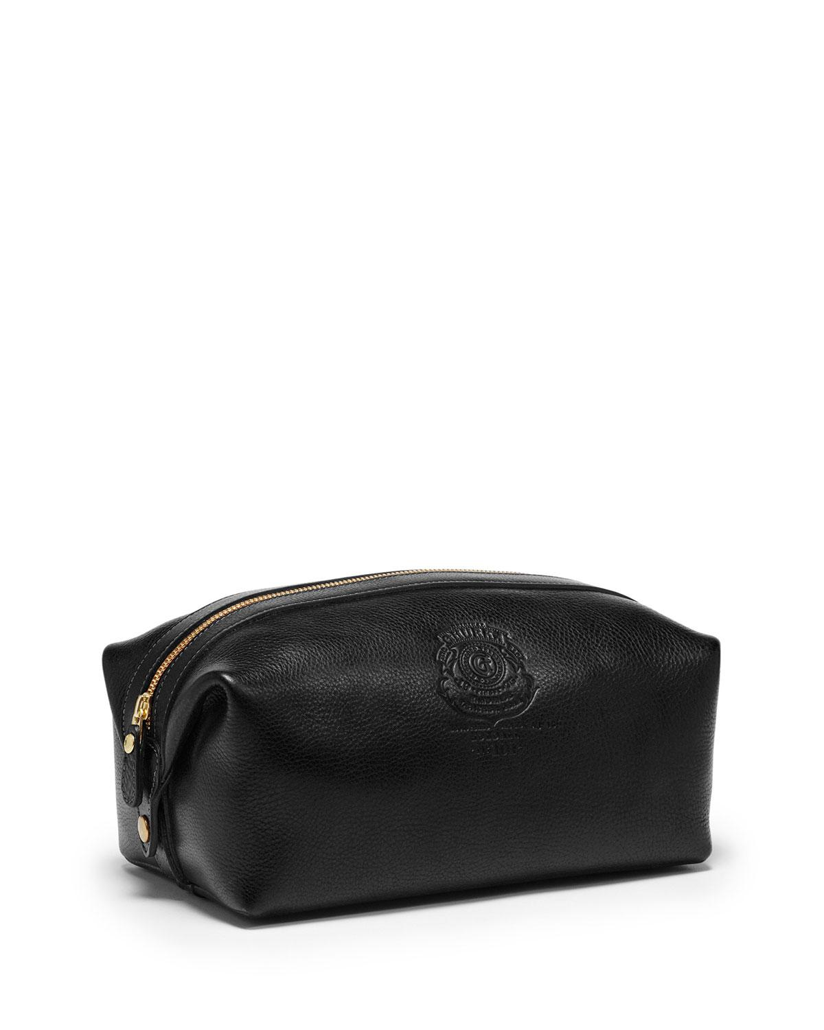 Ghurka Holdall No 101 Leather Travel Toiletry Bag In Black