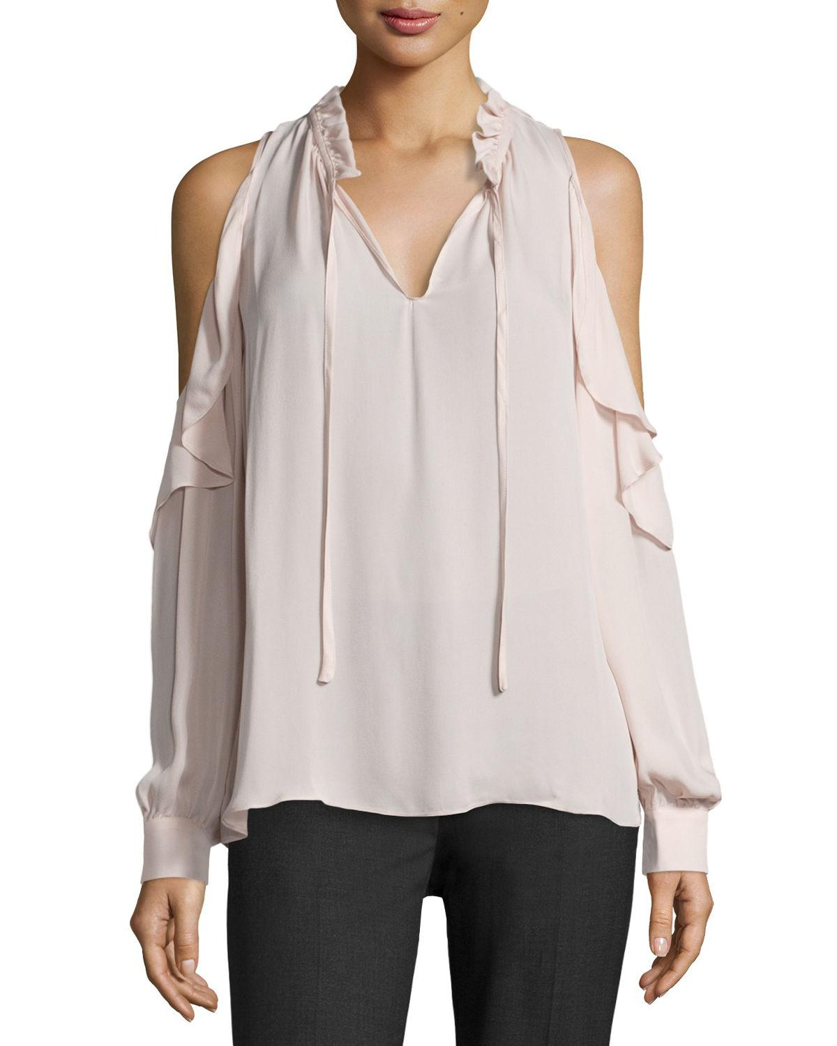 e4107d3a364d8 Gallery. Previously sold at  Neiman Marcus · Women s Fleece Tops Women s  Cold Shoulder Blouses ...