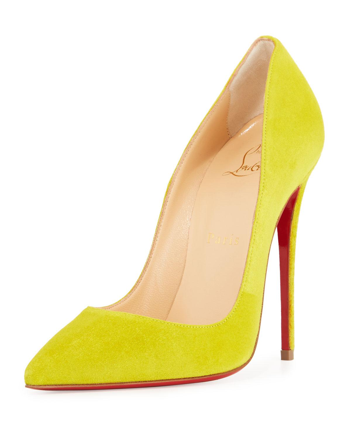 f3f313523a Gallery. Previously sold at: Neiman Marcus · Women's Yellow Heels Women's Christian  Louboutin So Kate ...