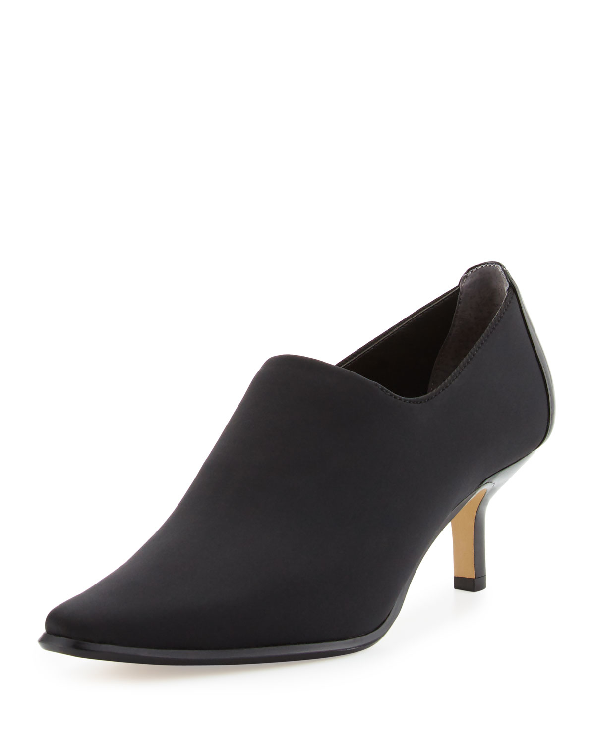 Donald J Pliner Loui Stretch Crepe Bootie In Black Lyst