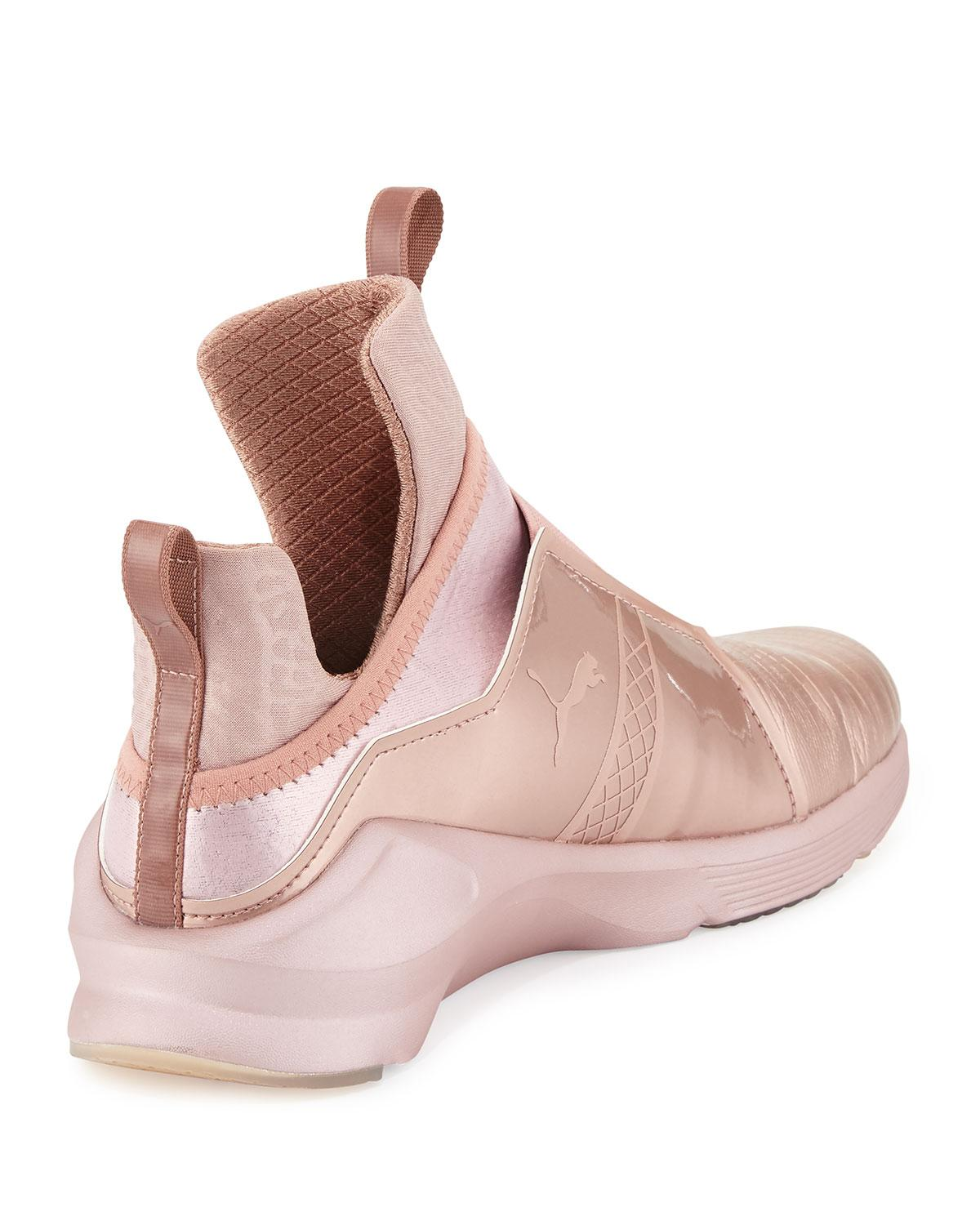46feea56075d Lyst - PUMA Fierce Lizard-embossed High-top Sneaker in Pink
