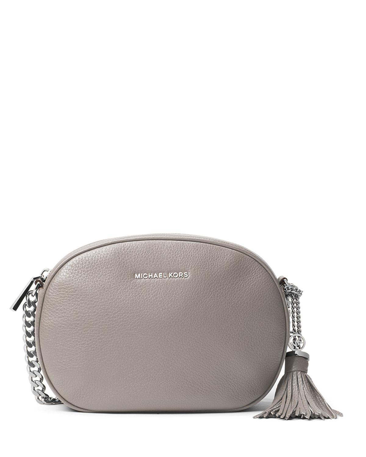 ef53fb40d MICHAEL Michael Kors Ginny Medium Leather Messenger Bag in Gray - Lyst