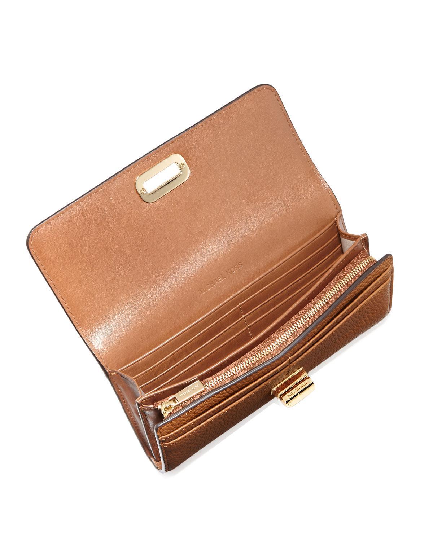 0f577b7072fd MICHAEL Michael Kors Sullivan Large Leather Carryall Wallet in Black ...