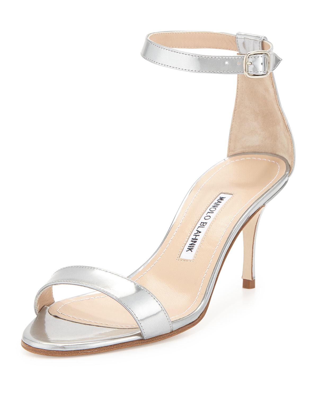 2588b07bab81 Lyst - Manolo Blahnik Chaos Ankle-strap Sandal in Natural