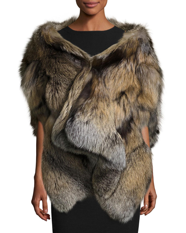Michael kors Cross Fox Fur Stole in Multicolor | Lyst