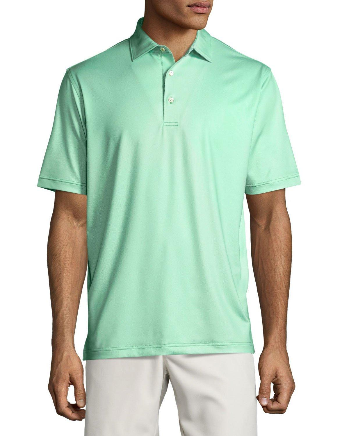 Peter millar setter polo shirt in green for men lyst for Peter millar polo shirts