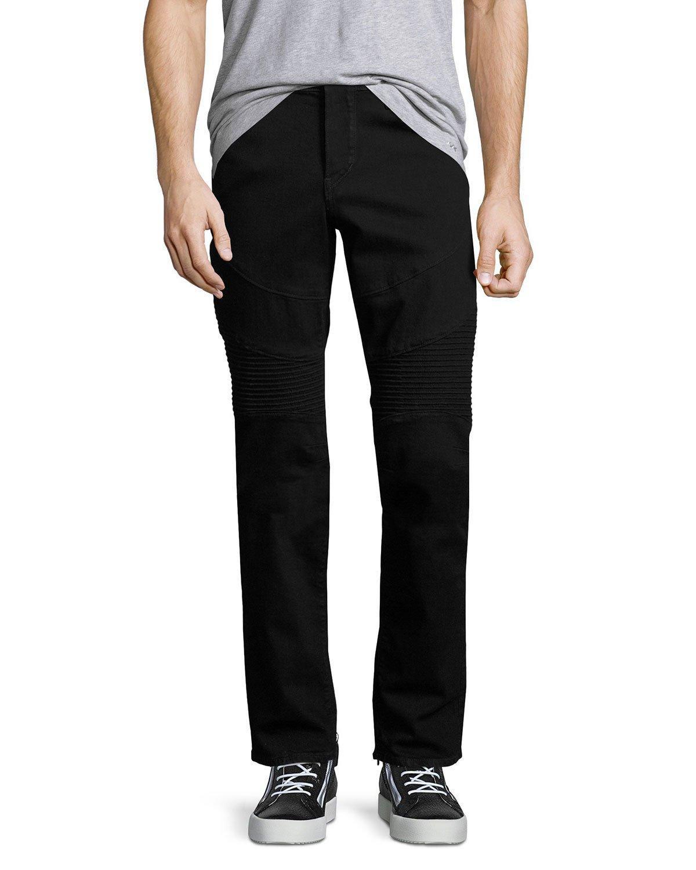 True religion Rocco Skinny Stretch-denim Moto Jeans in Black for Men | Lyst