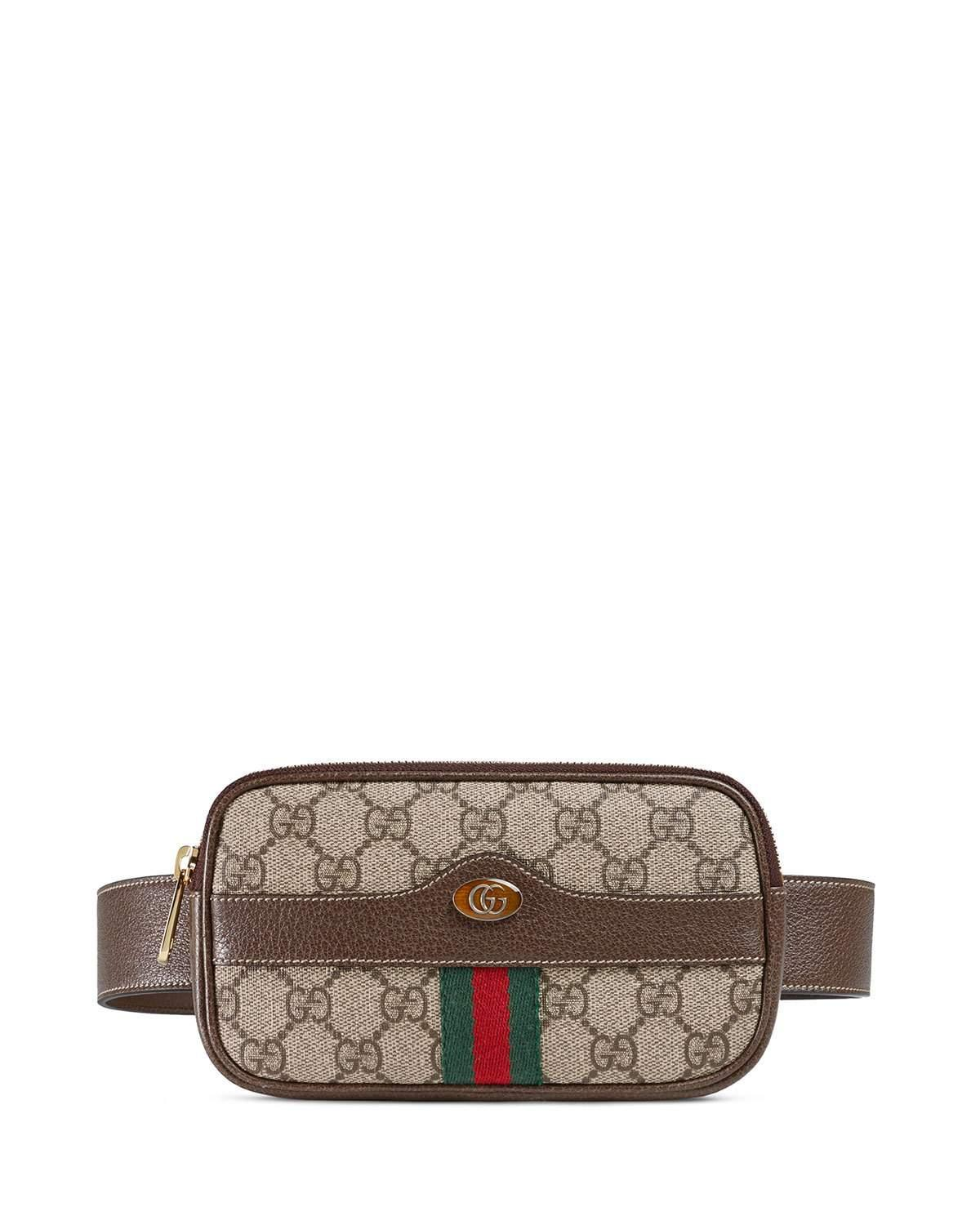 33201256ca9 Lyst - Gucci Ophidia GG Supreme Canvas Belt Bag in Natural