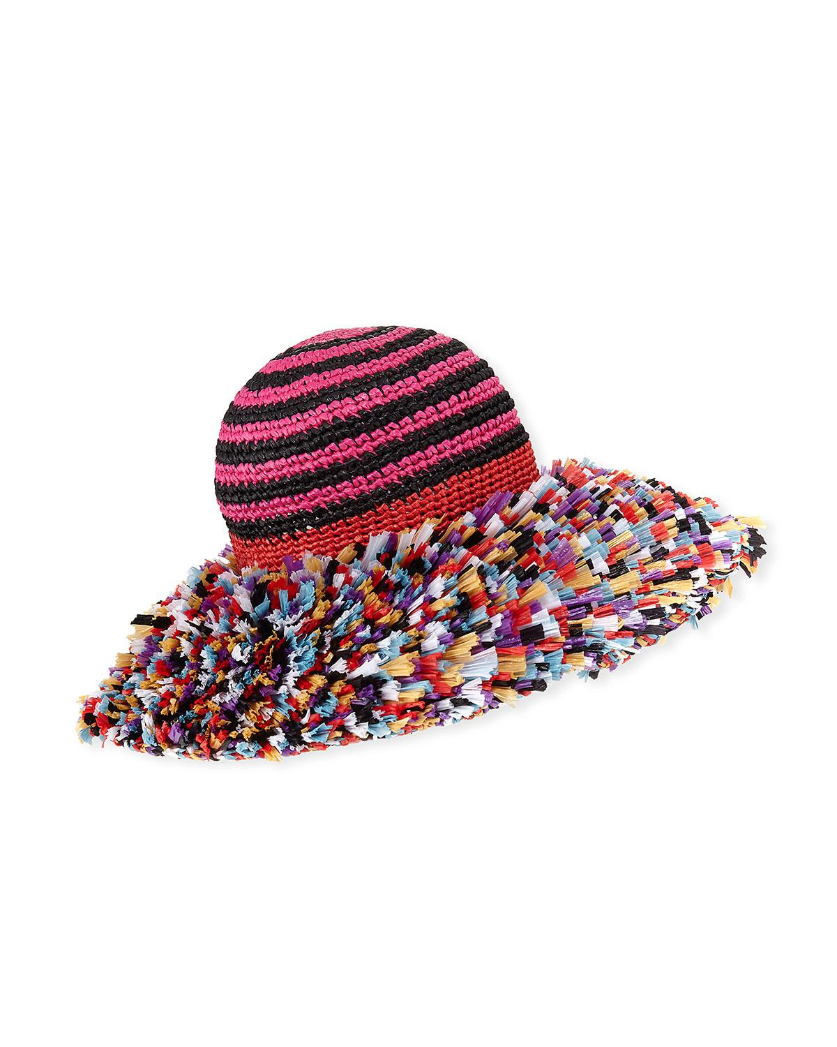 bdb08870c94626 Missoni Fringe Sun Hat in Red - Lyst