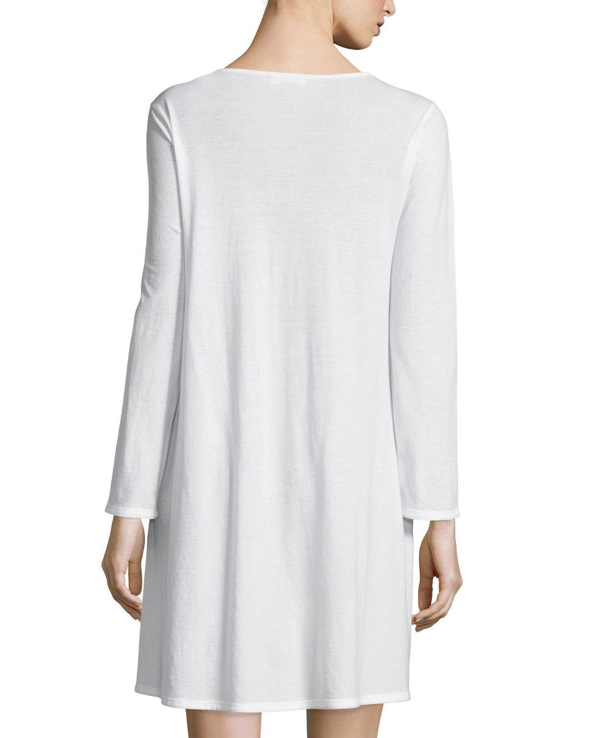 Lyst - Natori Tranquility Lace-inset Sleepshirt in White a65726caf