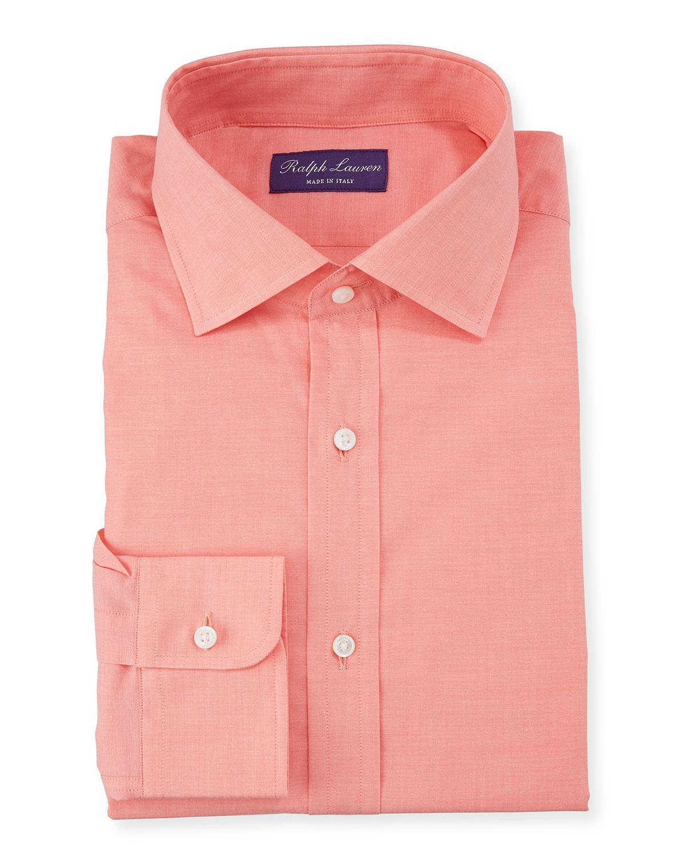 Lyst Ralph Lauren Mens Coral Aston Dress Shirt In Pink For Men