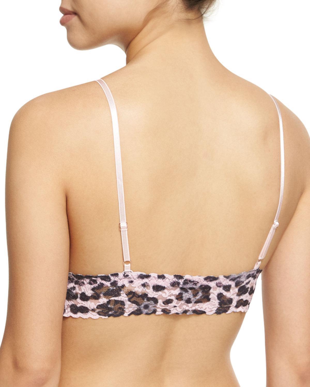 77cf9aa543119 Lyst - Hanky Panky Pretty Leopard Lace Bralette in Black