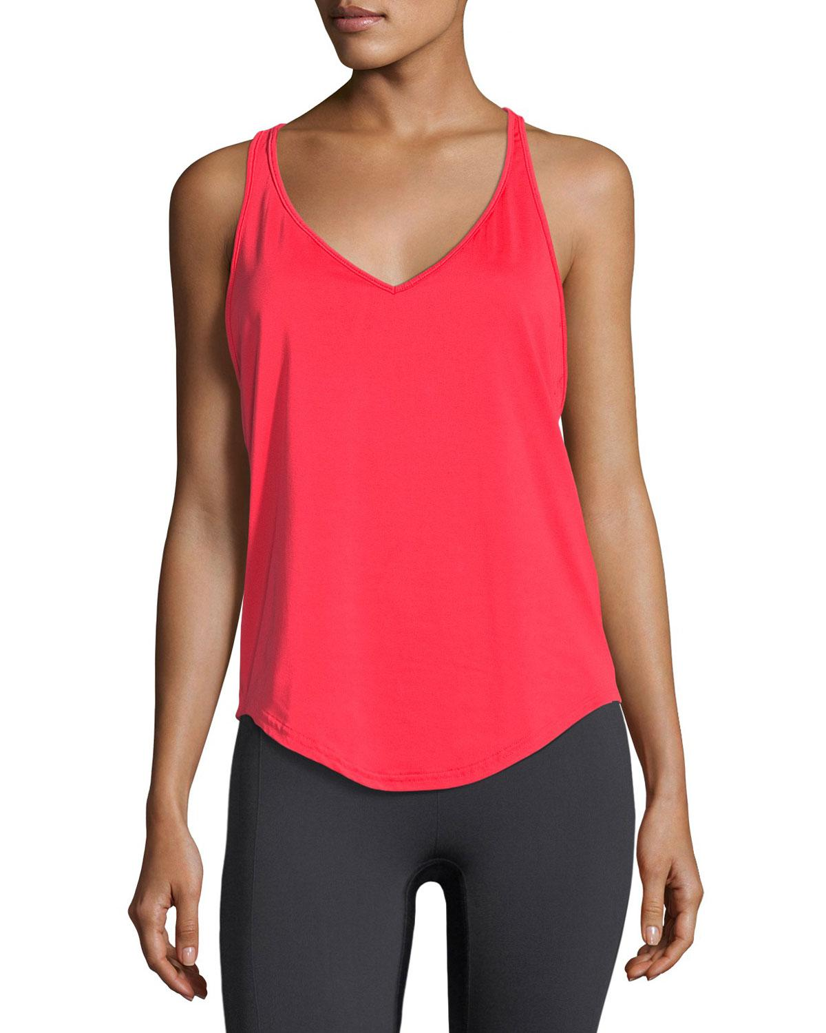 d711e6c112503 Lyst - Under Armour Flashy Racerback Performance Tank Top in Red