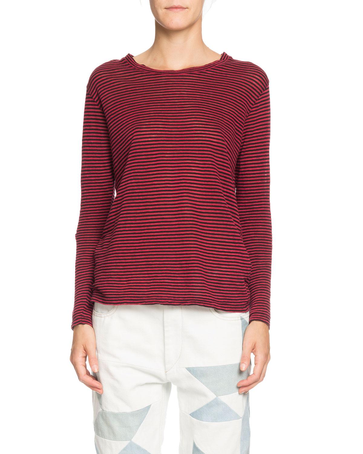 3dfd8ff5a231d Lyst - Étoile Isabel Marant Kaaron Striped Jersey Long-sleeve Tee in Red