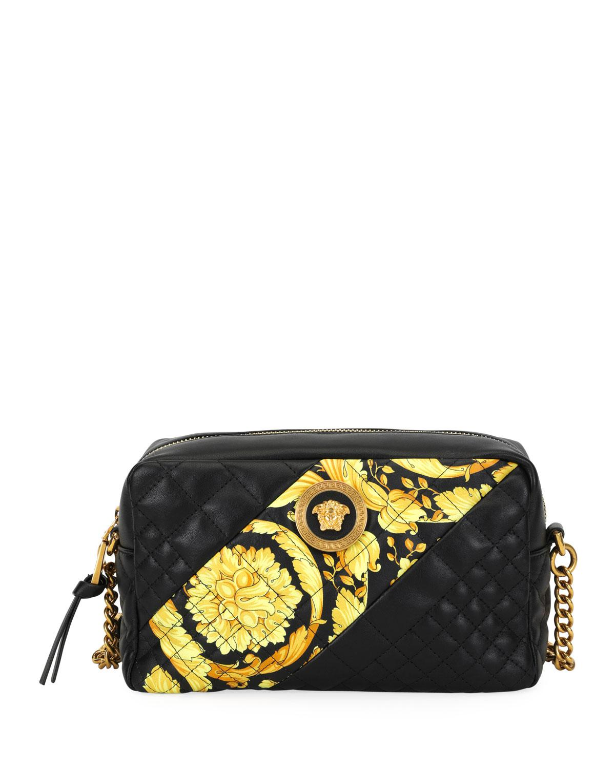 Quilted Crossbody Barocco Icon In Stripe Bag Leather Versace Lyst AwIxa7W