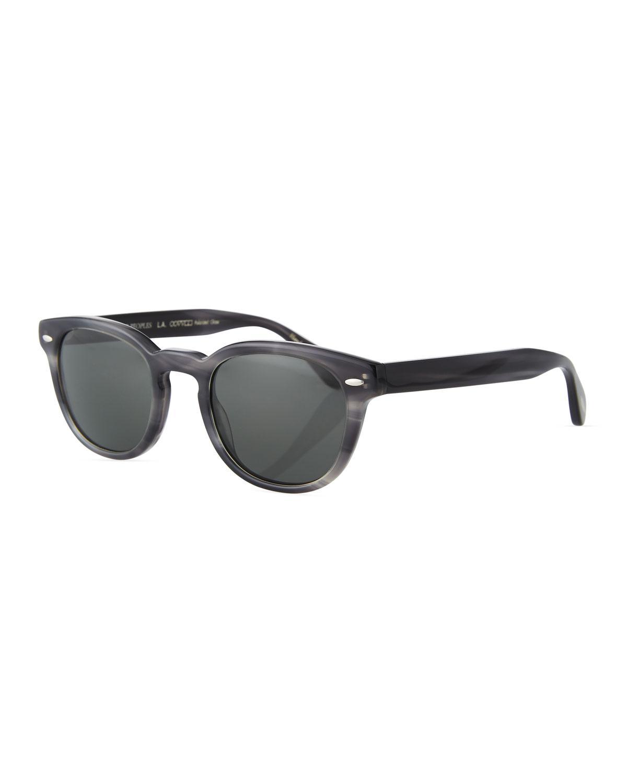 0fd8e10c73 Lyst - Oliver Peoples Men s Sheldrake Round Polarized Sunglasses ...