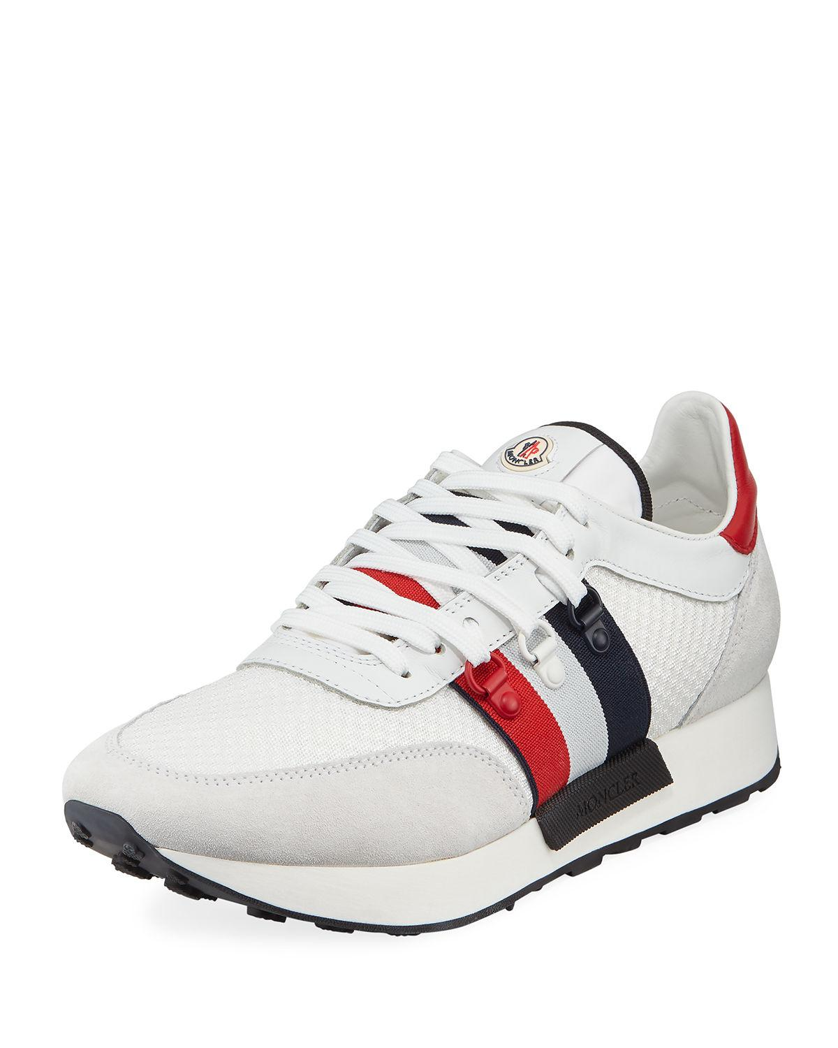 moncler mens white trainers