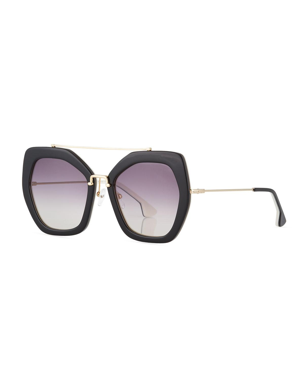95aa4dd937 Alice + Olivia. Women s Bowery Square Sunglasses Black