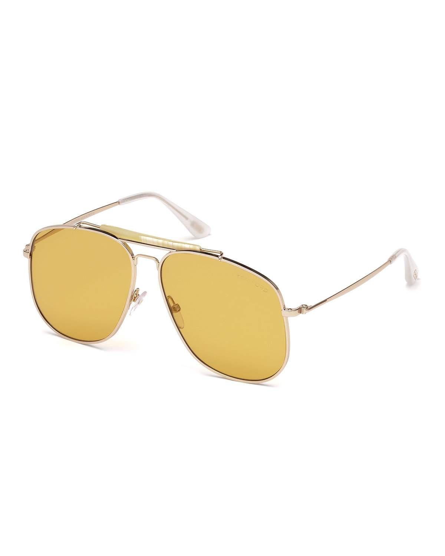 283c69f1c9 Lyst - Tom Ford Connor Runway Aviator Sunglasses in Metallic
