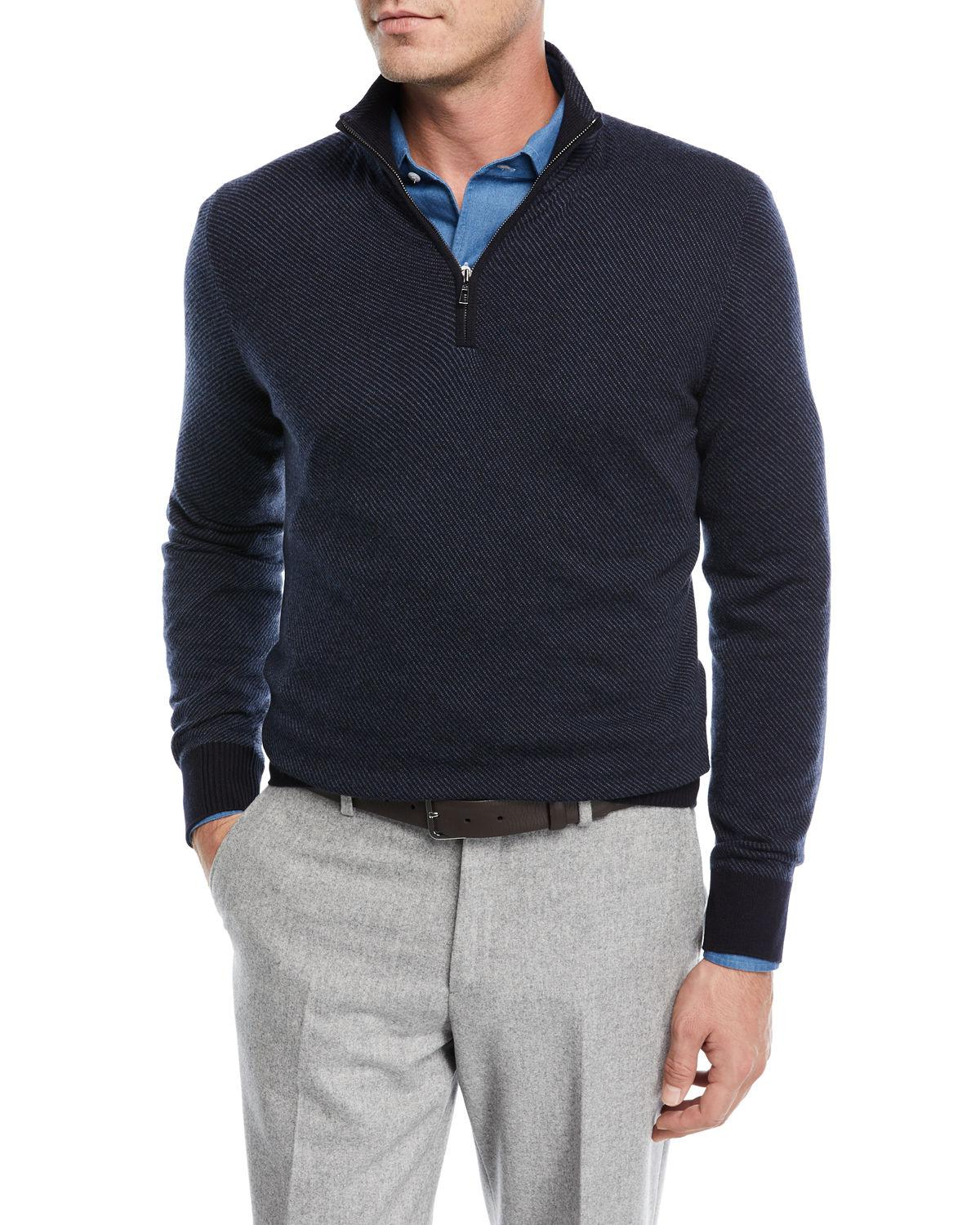 9f3c05d1d Lyst - Loro Piana Roadster 1 4-zip Cashmere Sweater in Blue for Men