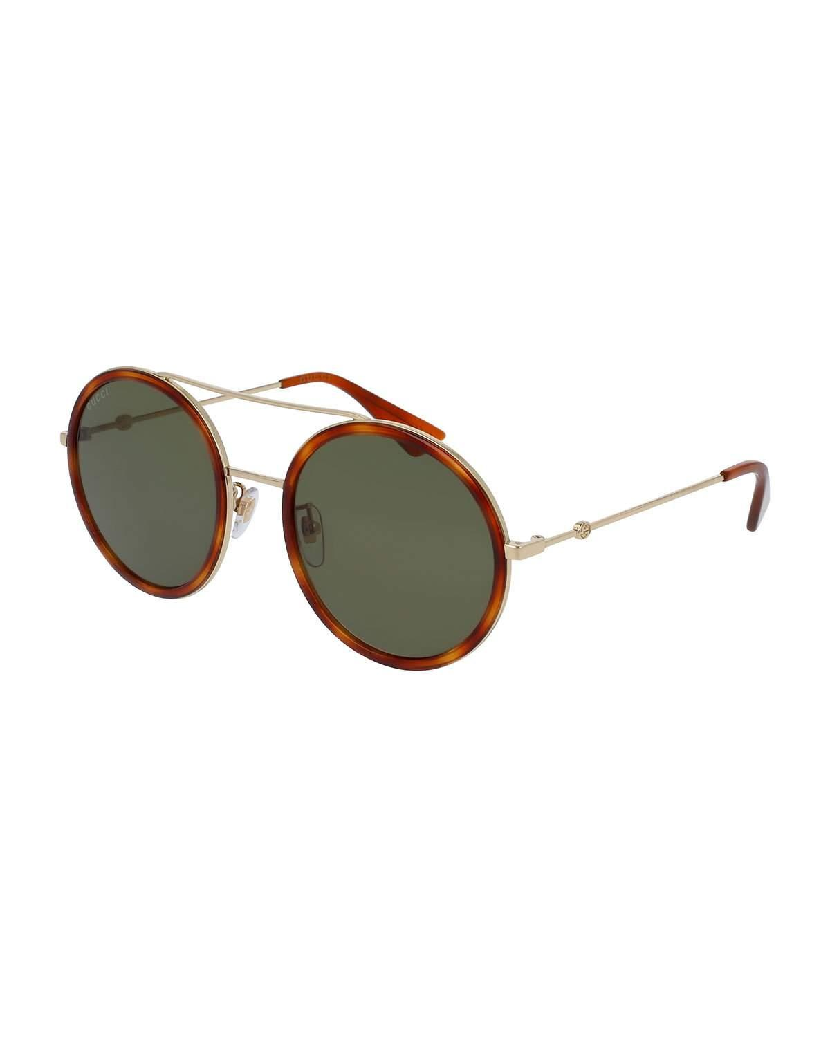 2fc2eefa5d6 Gucci. Women s Round Sylvie Web Sunglasses.  400 From Neiman Marcus