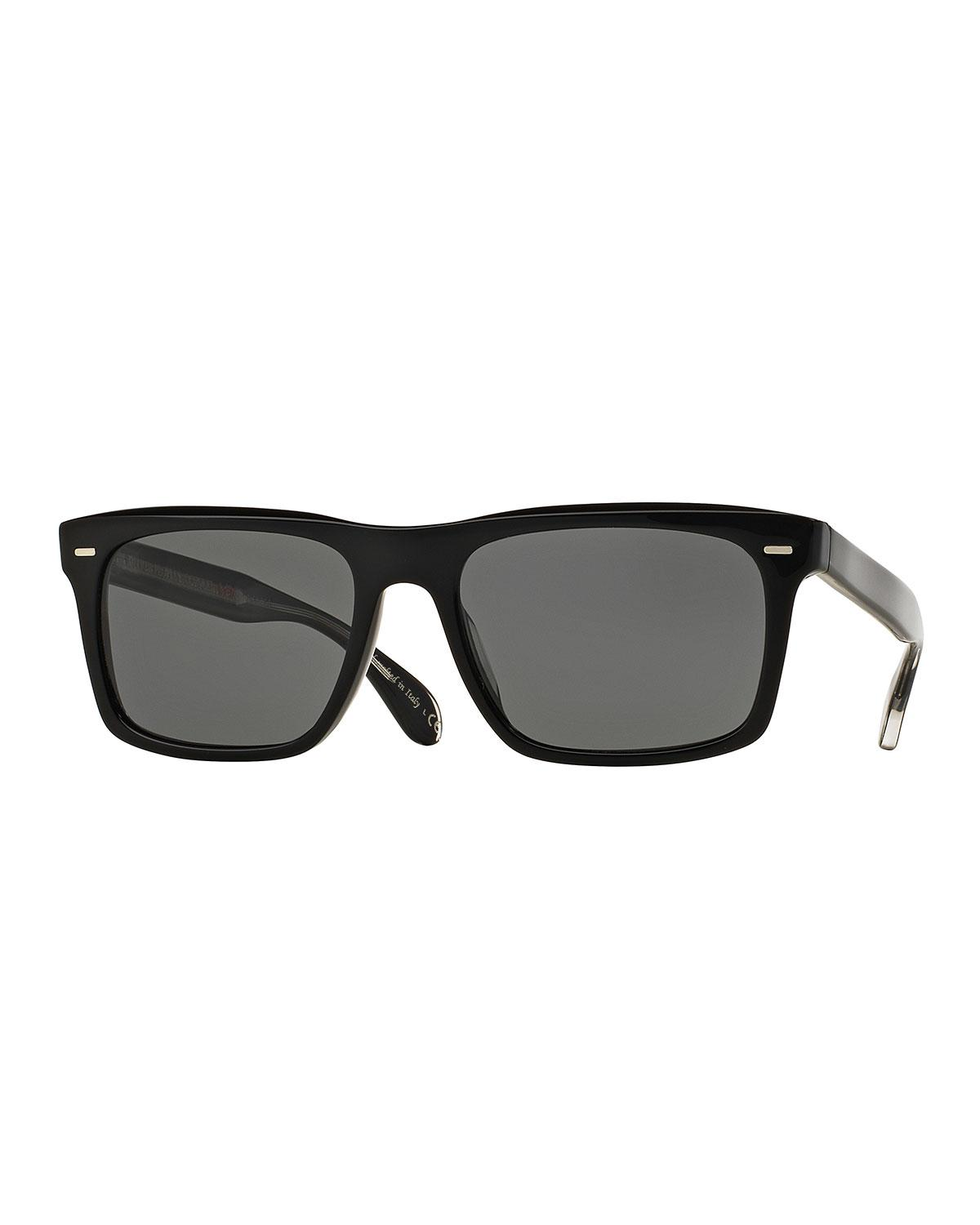 5f11d3da63 Lyst - Oliver Peoples Brodsky 55 Vfx+ Polarized Sunglasses Black in ...