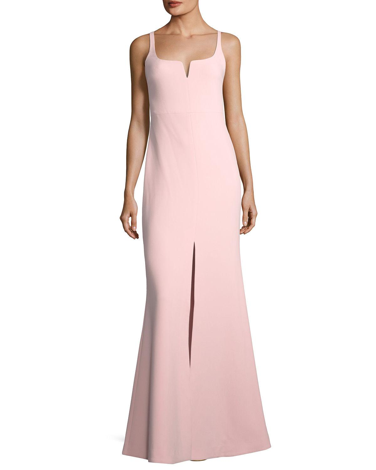 Lyst - Likely Constance Sleeveless Trumpet Evening Gown in Pink