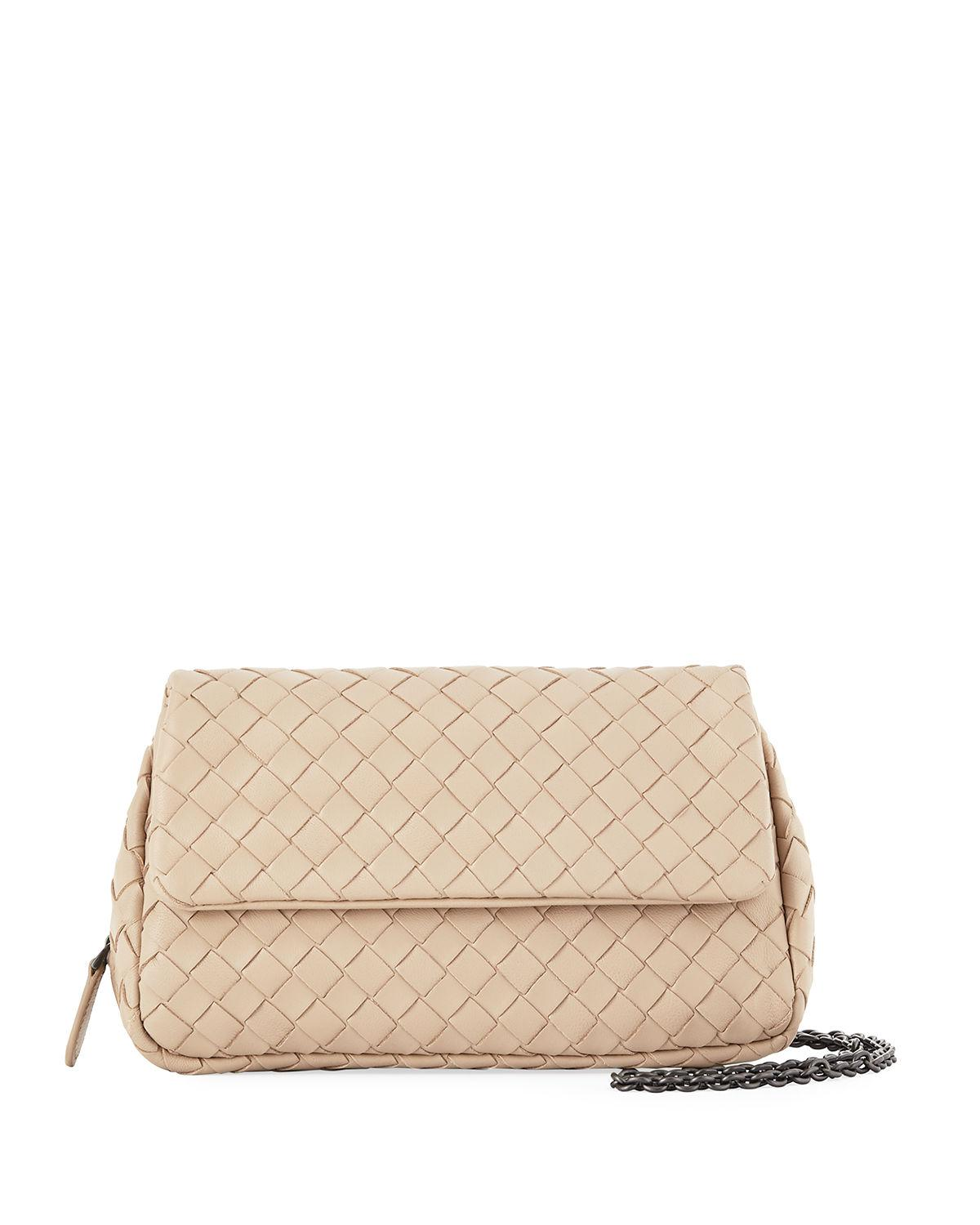 d6a7662577 Bottega Veneta. Women s Natural Intrecciato Small Chain Crossbody Bag