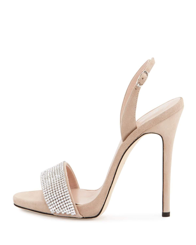 5e5b74b52f215 Lyst - Giuseppe Zanotti Coline Crystal-Embellished Sandal in White