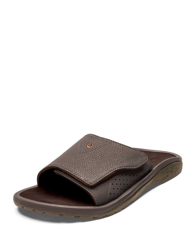 1c67da751842 Lyst - Olukai Men s Nalu Grip-strap Slide Sandals in Brown for Men