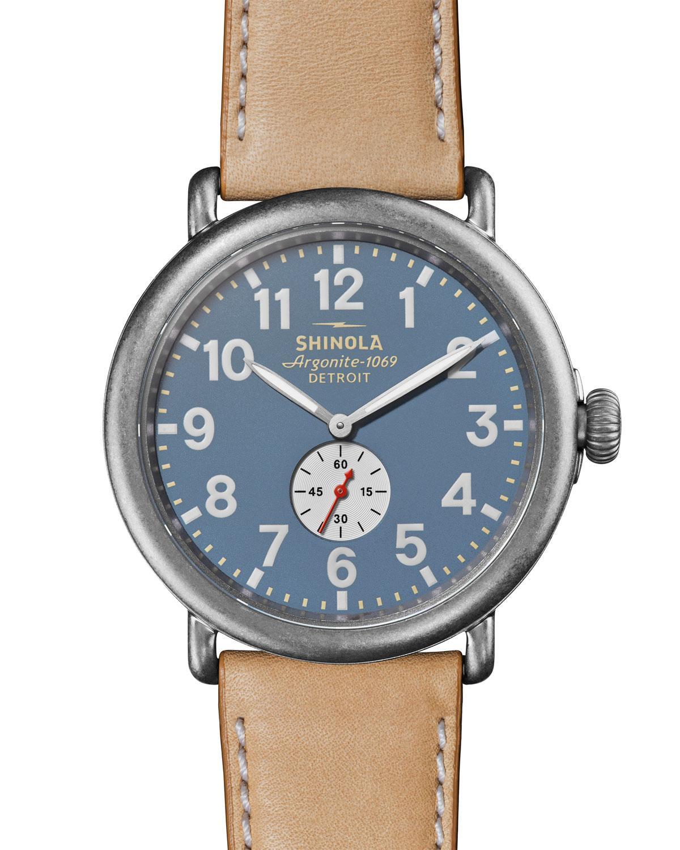 f4c078f26 Lyst - Shinola Men's 47mm Runwell Watch Medium Beige for Men