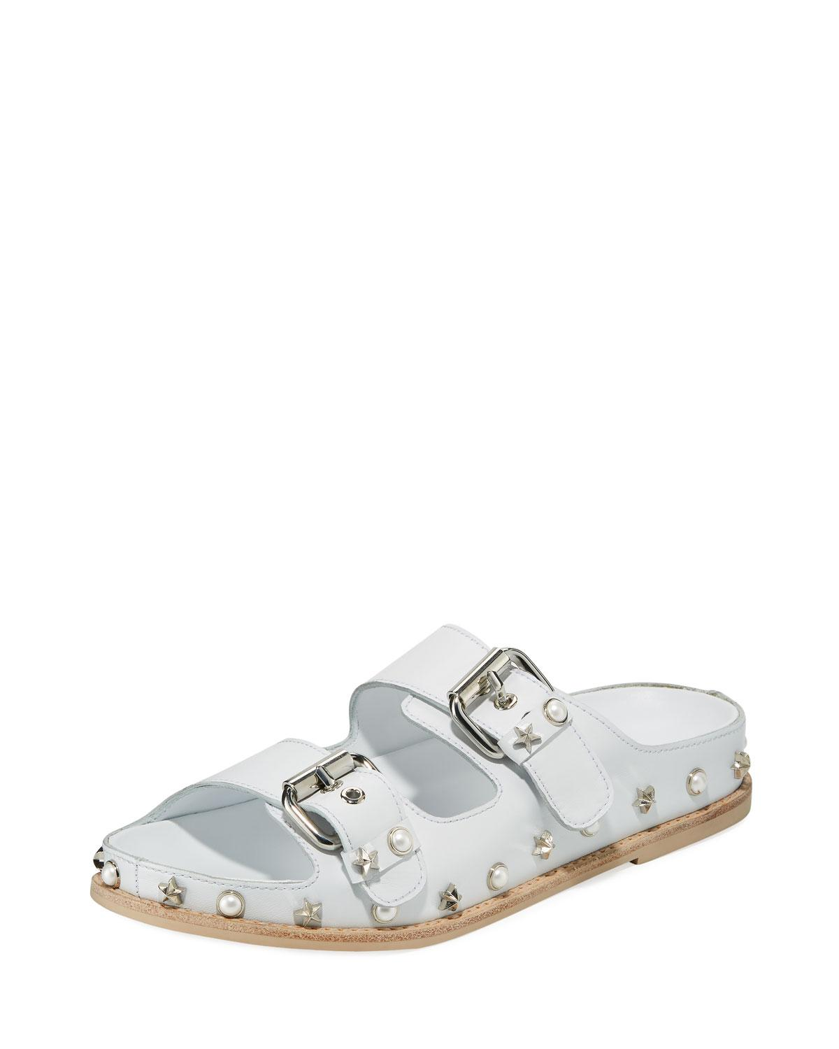 Sale With Credit Card Stuart Weitzman Women's Sandbar Embellished Leather Sandals Lowest Price Cheap Price Official Sale Online GyPXyf
