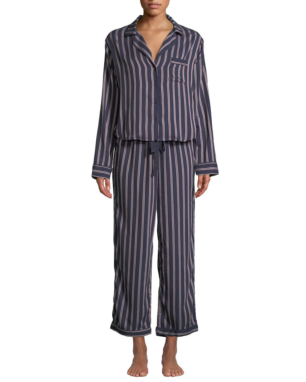 ed04994aeef375 Lyst - Rails Camden Striped Classic Pajama Set in Blue - Save 30%