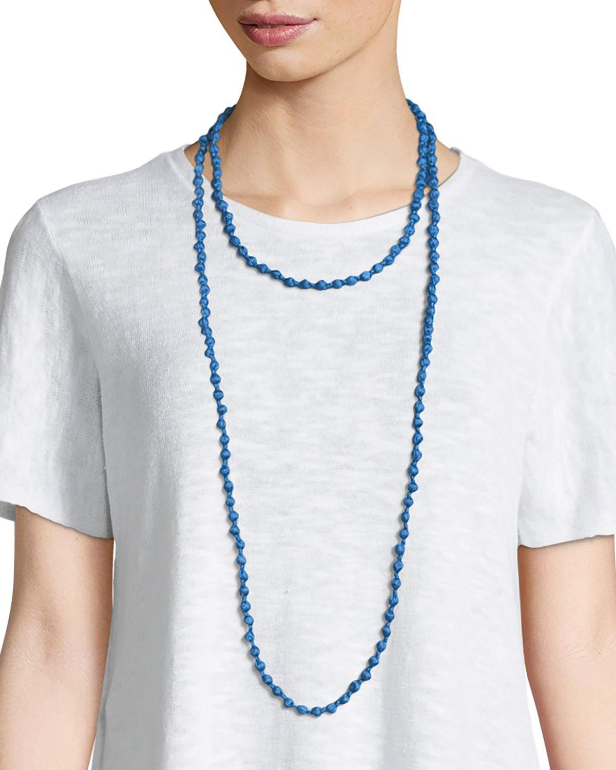 Eileen Fisher Bindu Silk Multi-Strand Necklace aSFkZ