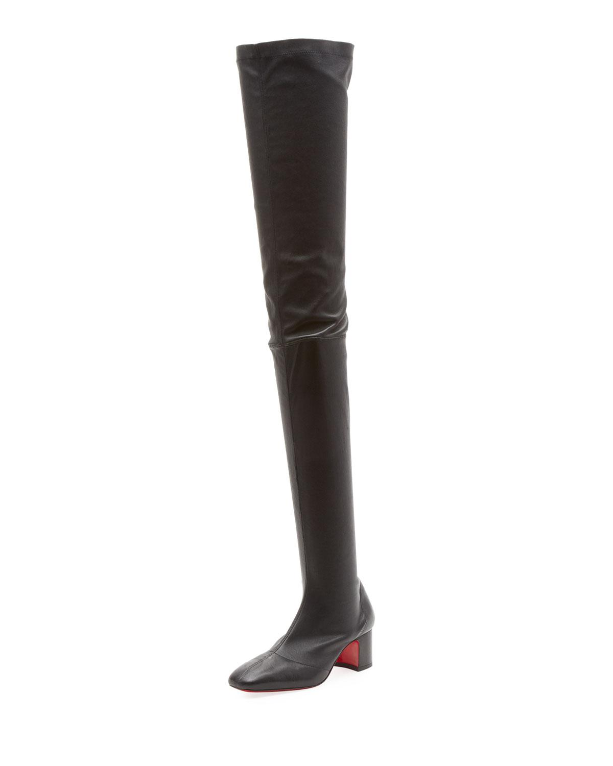 f63a33278c2 Christian Louboutin Sursamoto Napa Red Sole Over-the-knee Boot in ...