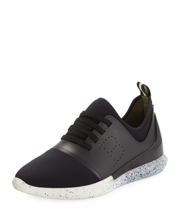 Avro Black, Mens leather sneaker in black Bally
