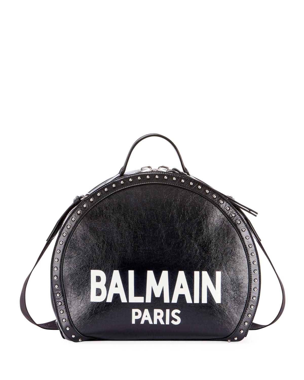 60f92ca0 Balmain - Black Drum Brilliant Coin Top Handle Bag - Lyst. View fullscreen