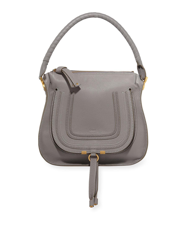 4f1f92eb32b Lyst - Chloé Marcie Medium Leather Hobo Bag in Gray