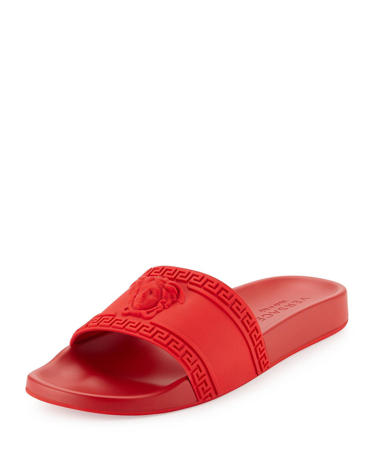 7556505226262 Lyst - Versace Medusa-Head PVC Slides in Red for Men - Save 65%