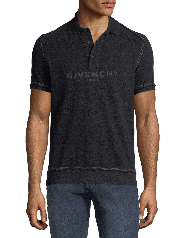 15a83a8d127d7 Lyst - Givenchy Men s Tonal Logo Cotton Polo Shirt in Black for Men