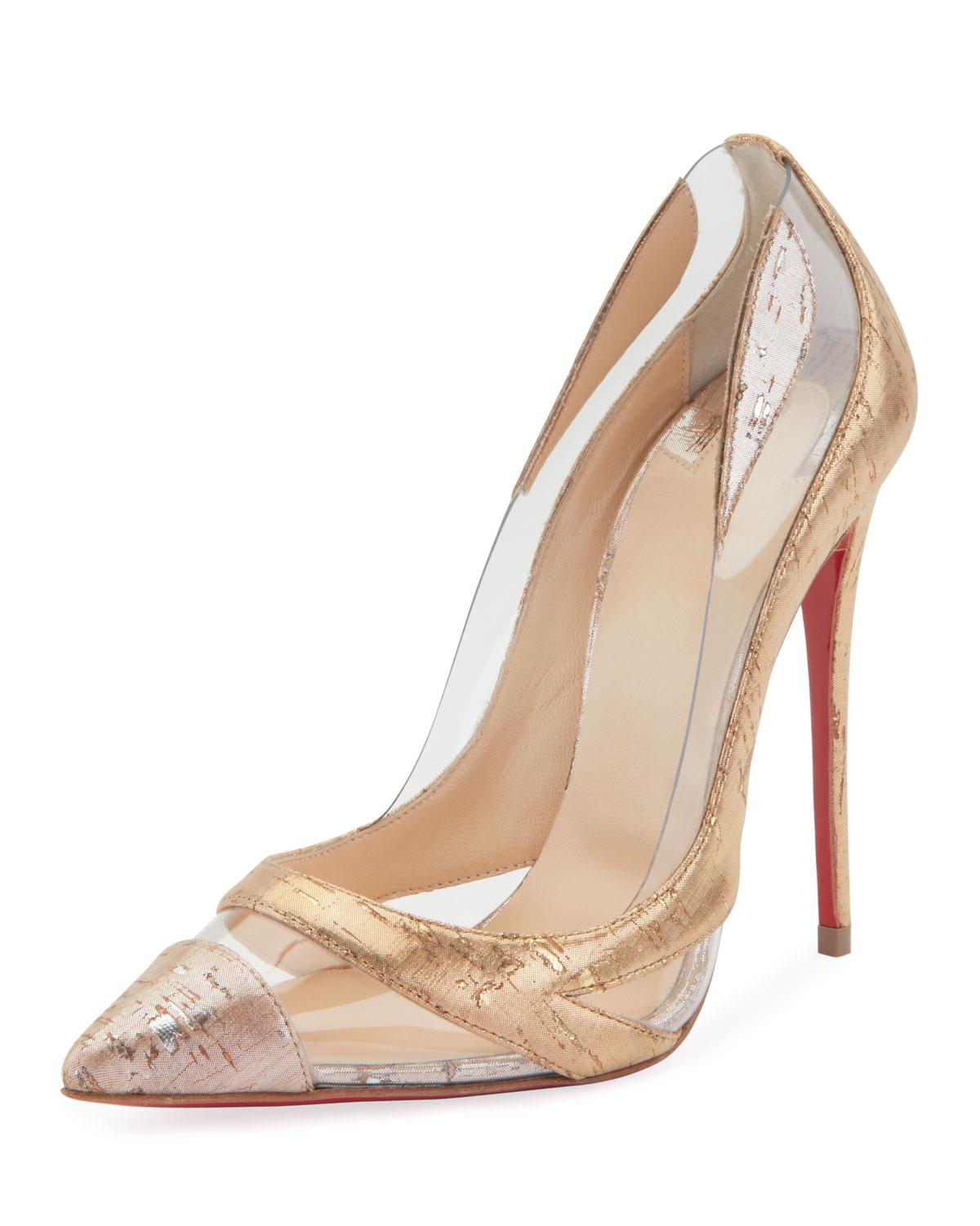 e52bf8f1fbeb Lyst - Christian Louboutin Blake Is Back Cork pvc Red Sole Pumps in ...