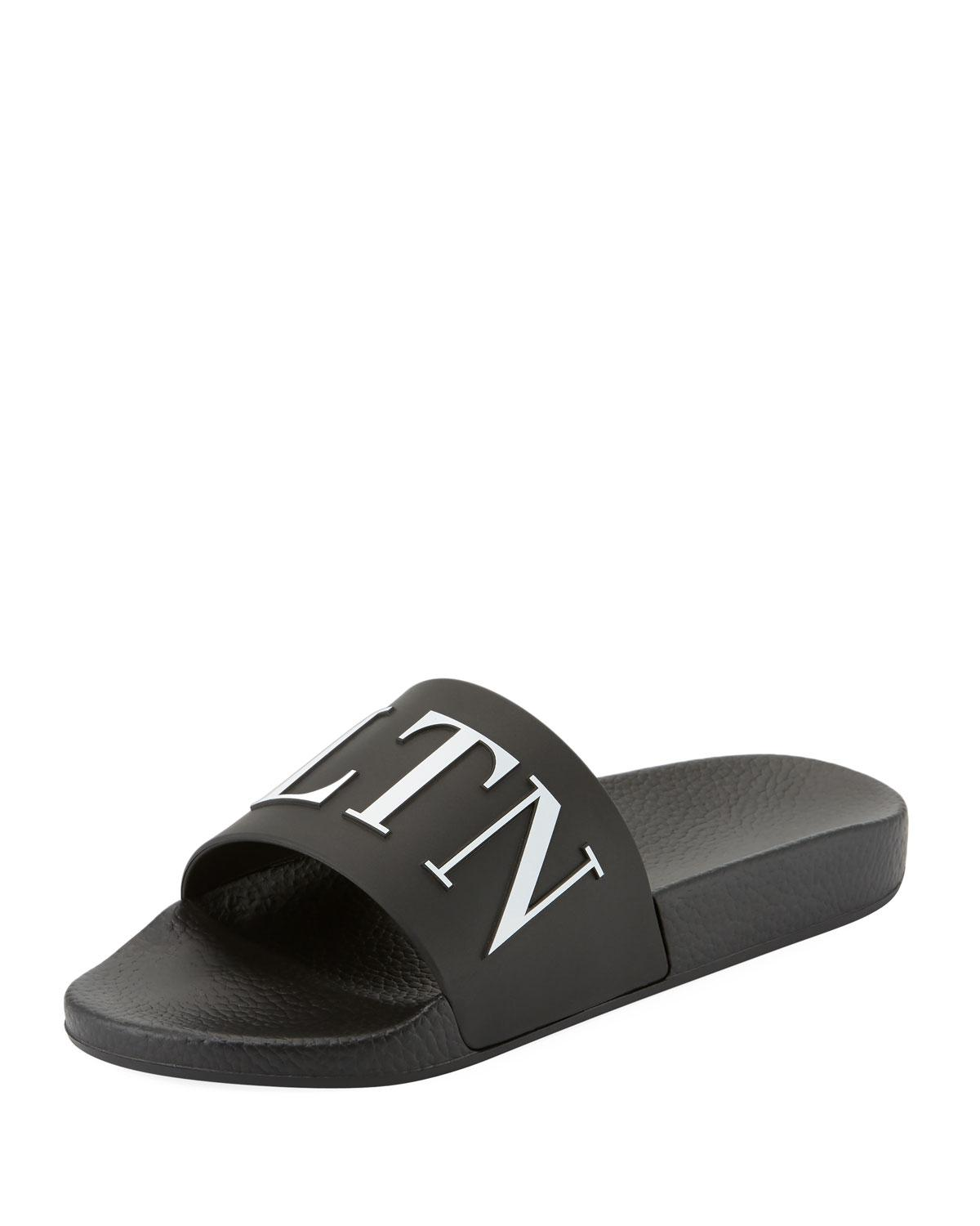 Real Online Affordable For Sale Valentino VLTN LOGO PVC SLIDE SANDALS Clearance Authentic nTJYSLhp
