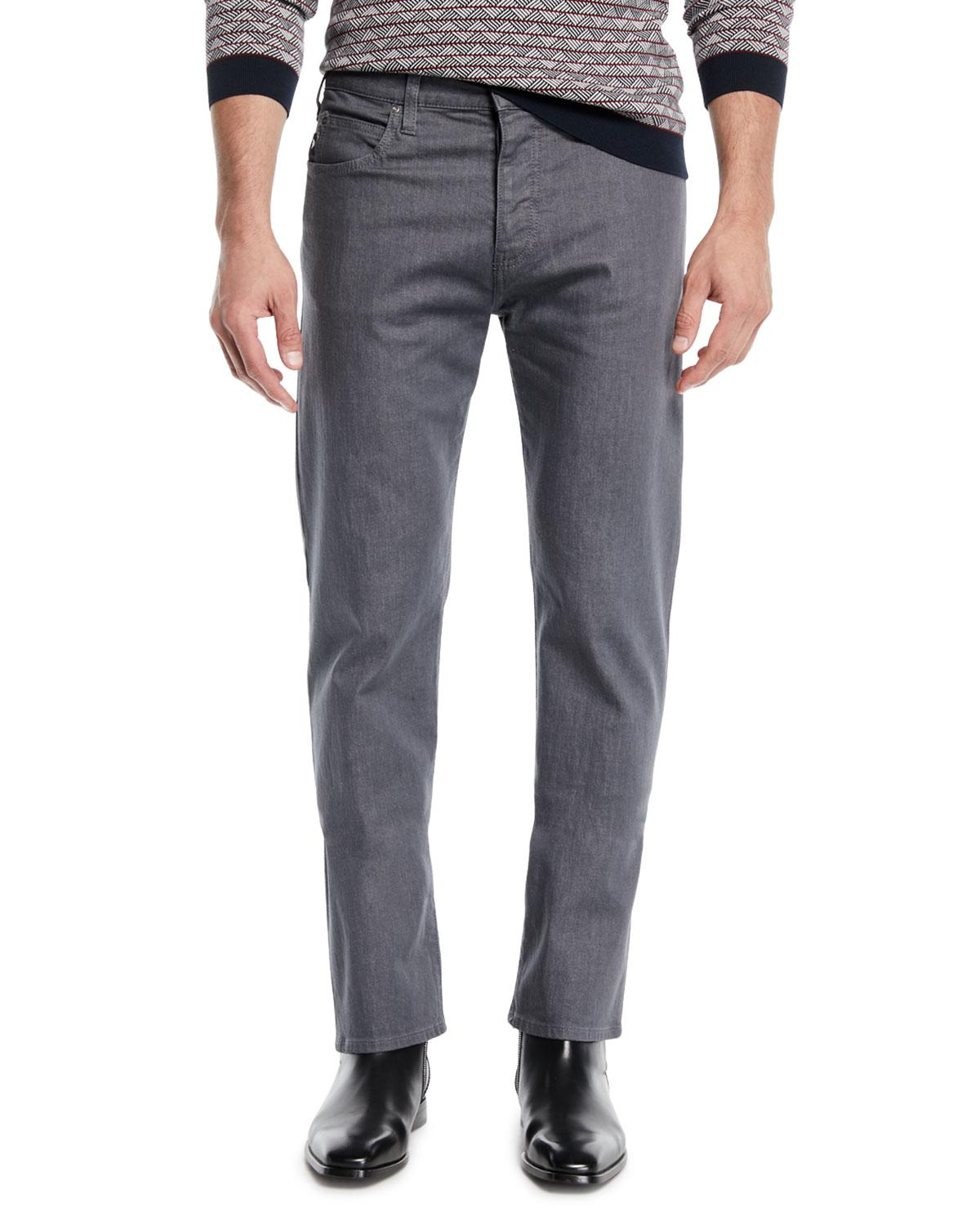 59b1eb7c1 Lyst - Emporio Armani Men's Stretch-twill 5-pocket Pants in Gray for Men