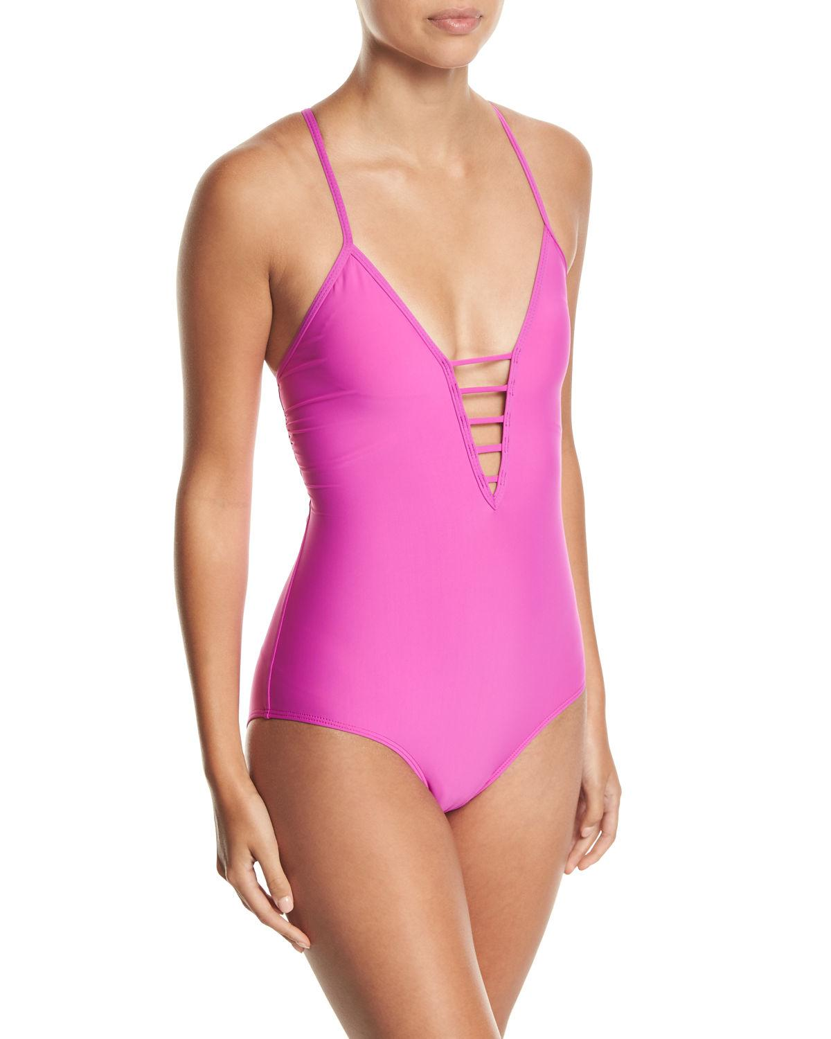 953d7129c Athena Soft-cup Strappy One-piece Swimsuit in Pink - Lyst
