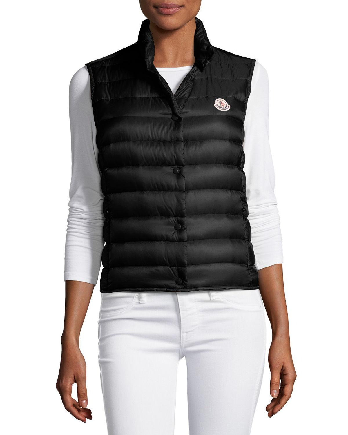 985131f01 Lyst - Moncler Liane Quilted Down Gilet in Black - Save 13%