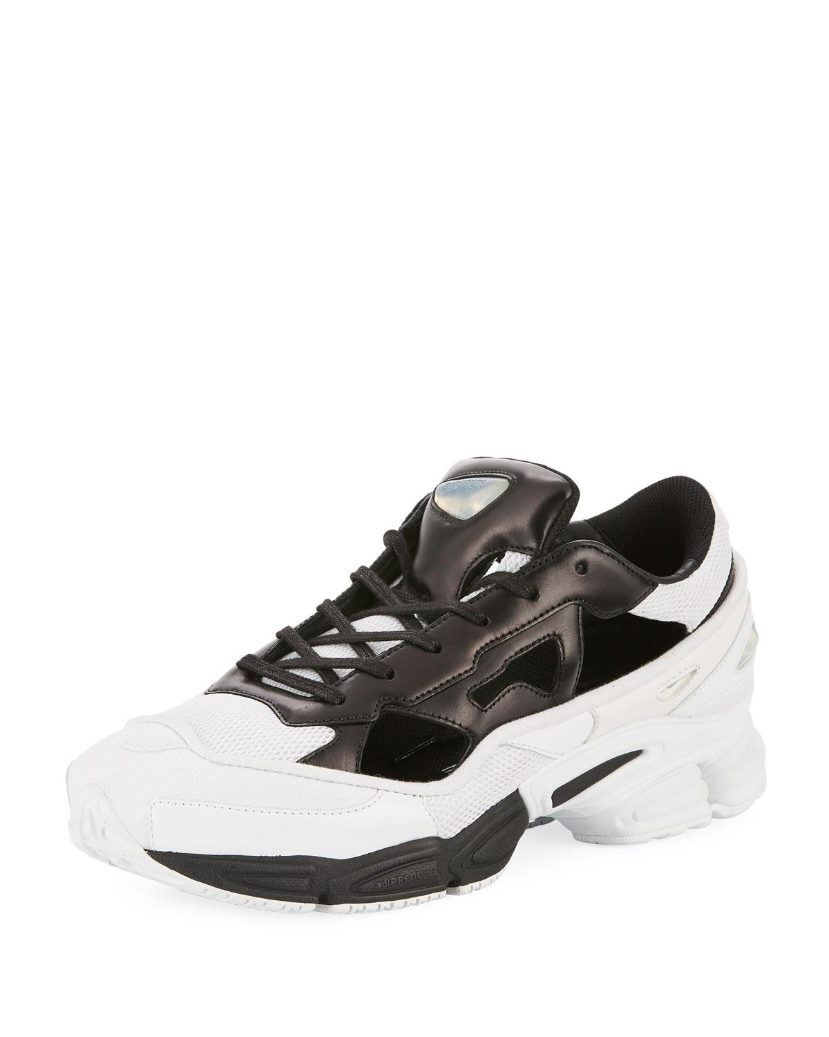best service 41a4b 20a76 adidas By Raf Simons. Black Mens Replicant Ozweego Trainer Sneakers